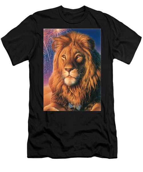 Zoofari Poster The Lion Men's T-Shirt (Athletic Fit)