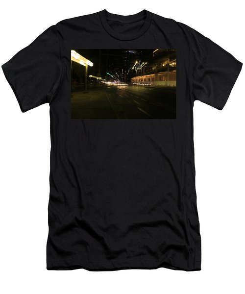 Zooming Tel Aviv Road. Men's T-Shirt (Athletic Fit)