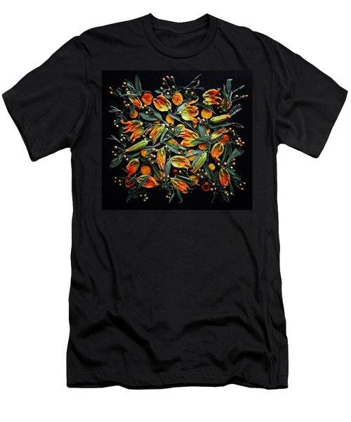 Zucchini Flower Patterns Men's T-Shirt (Athletic Fit)
