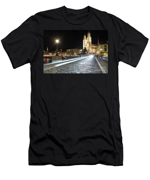 Zurich Night Rush In Old Town Men's T-Shirt (Athletic Fit)