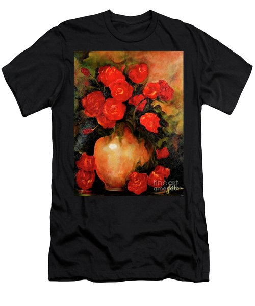 Antique Red Roses Men's T-Shirt (Athletic Fit)