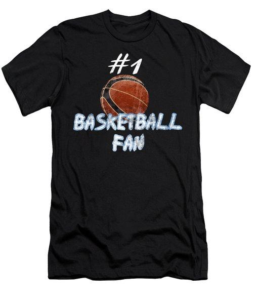 #1 Basketball Fan Men's T-Shirt (Athletic Fit)