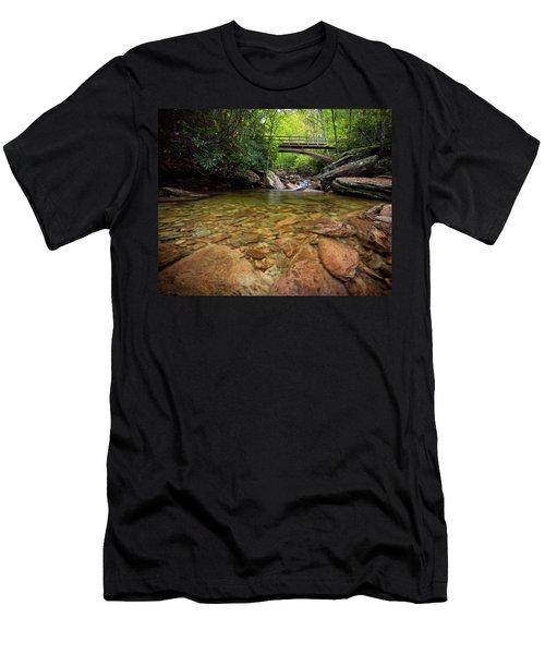 Boone Fork Bridge - Blue Ridge Parkway - North Carolina Men's T-Shirt (Athletic Fit)