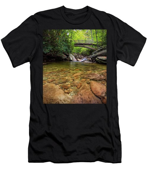 Boone Fork Bridge - Blue Ridge Parkway - North Carolina Men's T-Shirt (Athletic Fit)
