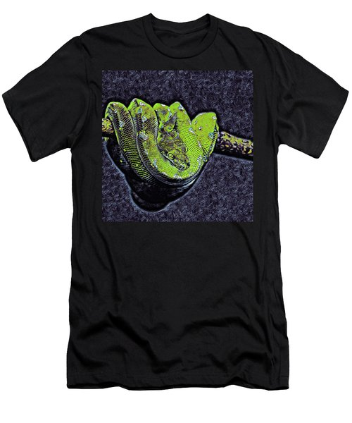 Emerald Tree Boa Men's T-Shirt (Athletic Fit)