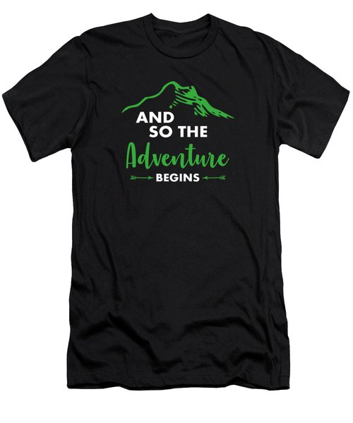 Funny Hiking Mountains Alps Nature Hiker Gift Men's T-Shirt (Athletic Fit)