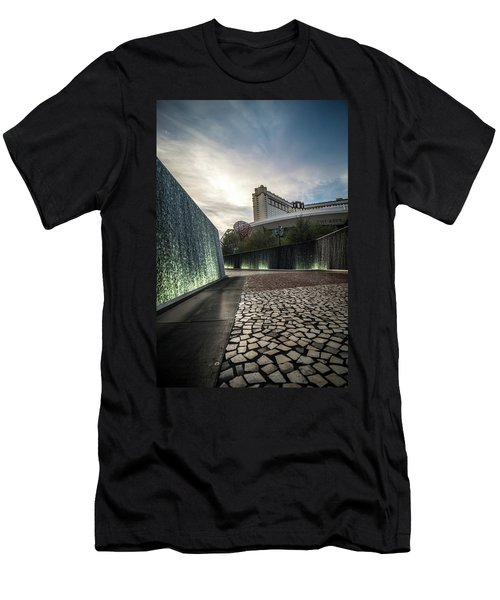 Men's T-Shirt (Athletic Fit) featuring the photograph Las Vegas Nevada City Scenery On Sunny Day by Alex Grichenko