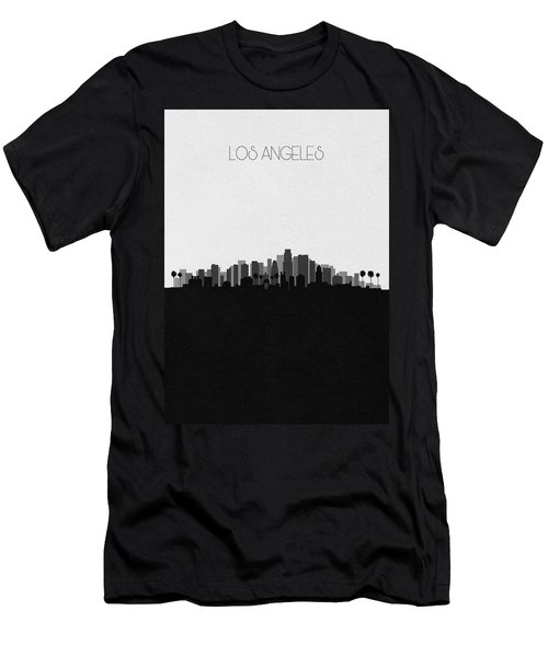 Los Angeles Cityscape Art V2 Men's T-Shirt (Athletic Fit)