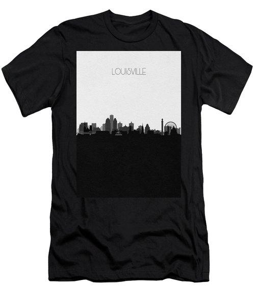 Louisville Cityscape Art Men's T-Shirt (Athletic Fit)