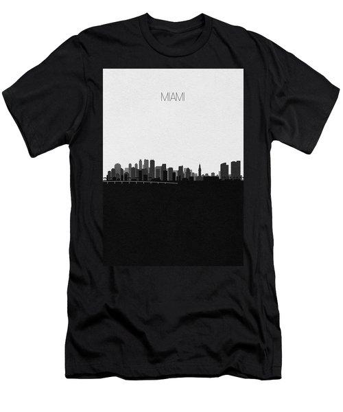 Miami Cityscape Art V2 Men's T-Shirt (Athletic Fit)