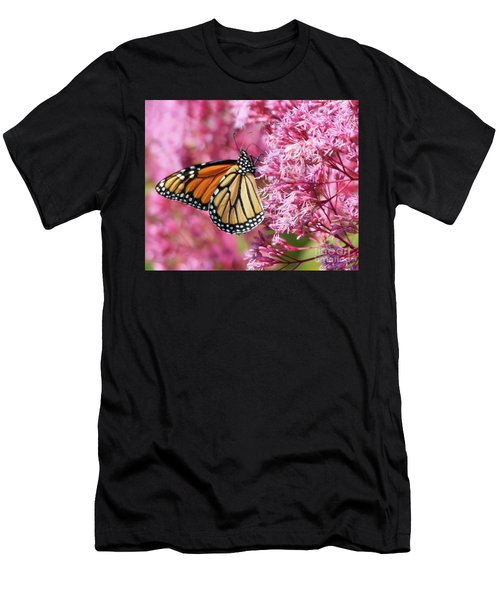 Men's T-Shirt (Athletic Fit) featuring the photograph Monarch Butterfly by Debbie Stahre