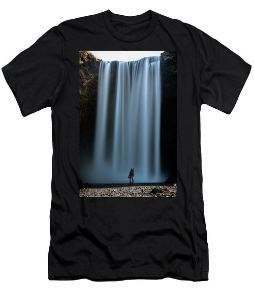 Amongst Giants Skogafoss Iceland Men's T-Shirt (Athletic Fit)