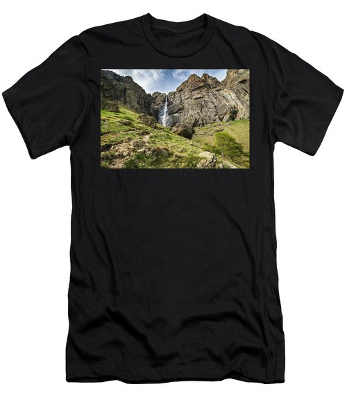 Raysko Praskalo Waterfall, Balkan Mountain Men's T-Shirt (Athletic Fit)