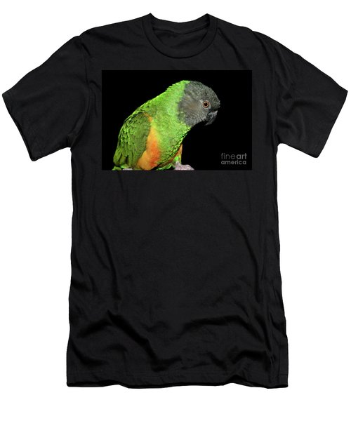 Men's T-Shirt (Athletic Fit) featuring the photograph Senegal Parrot by Debbie Stahre