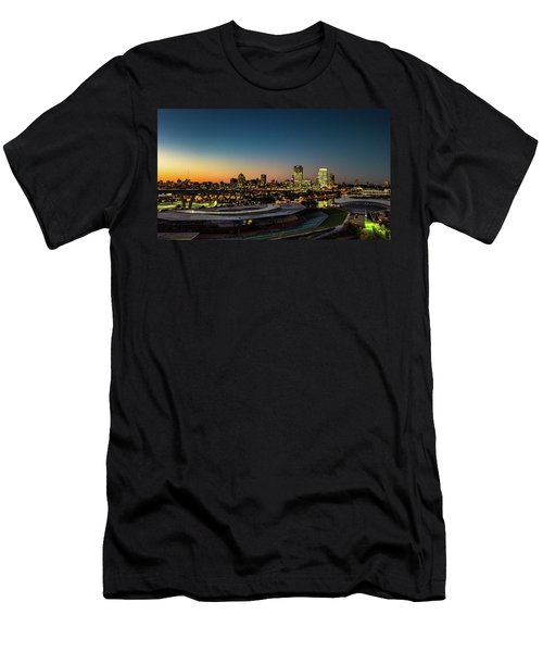 Men's T-Shirt (Athletic Fit) featuring the photograph Summerfest Sunset by Randy Scherkenbach