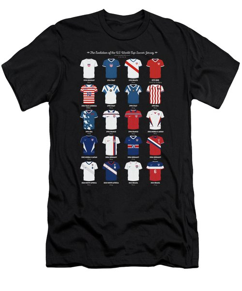 The Evolution Of The Us World Cup Soccer Jersey Men's T-Shirt (Athletic Fit)