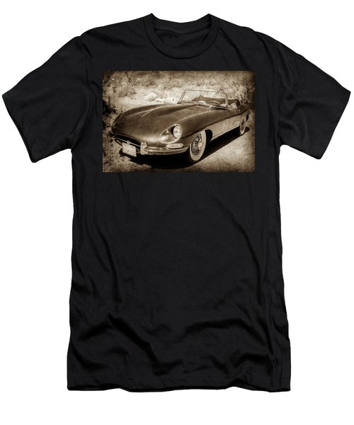 Men's T-Shirt (Athletic Fit) featuring the photograph 1963 Jaguar Xke Roadster-111s by Jill Reger