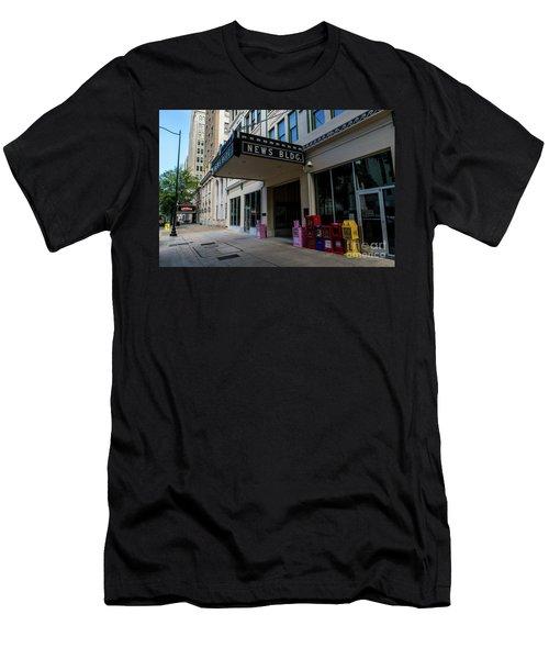 Broad Street Downtown Augusta Ga Men's T-Shirt (Athletic Fit)