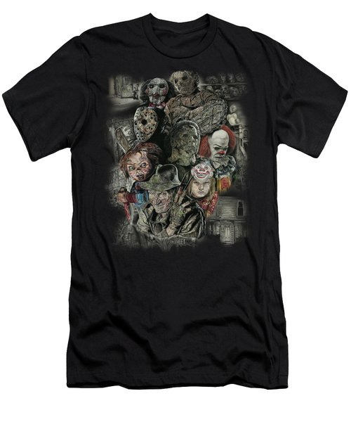 Horror Movie Murderers Men's T-Shirt (Athletic Fit)