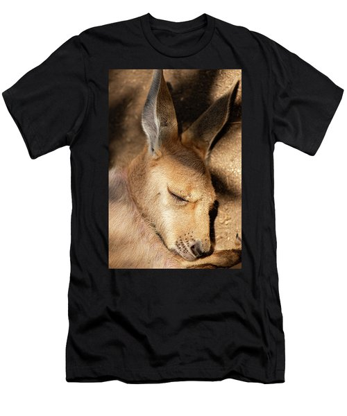 Men's T-Shirt (Athletic Fit) featuring the photograph Kangaroo Joey by Rob D Imagery