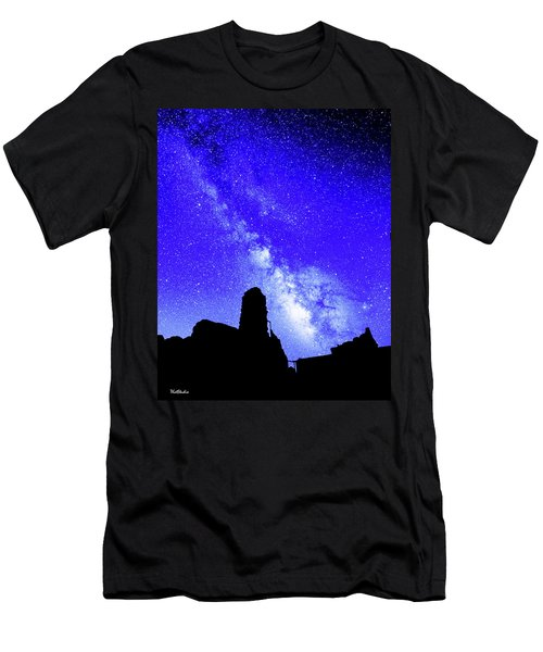 The Milky Way Over The Crest House Men's T-Shirt (Athletic Fit)