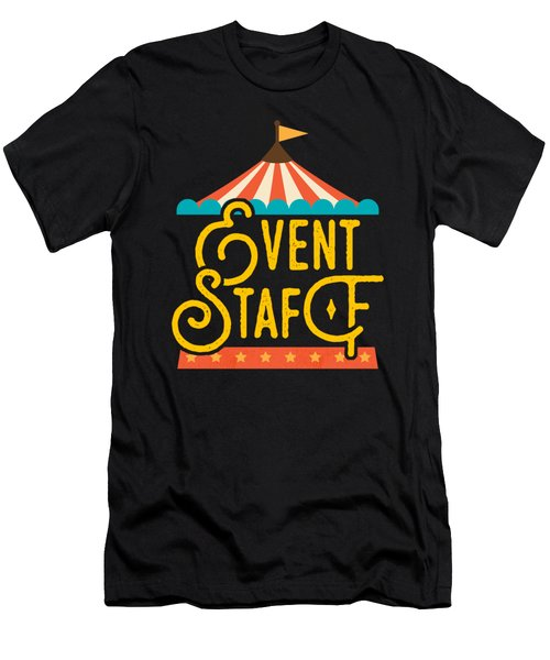 Birthday Circus Event Staff Carnival Party Apparel Men's T-Shirt (Athletic Fit)