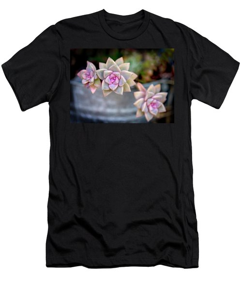 Men's T-Shirt (Athletic Fit) featuring the photograph 3 Succulents by John Rodrigues