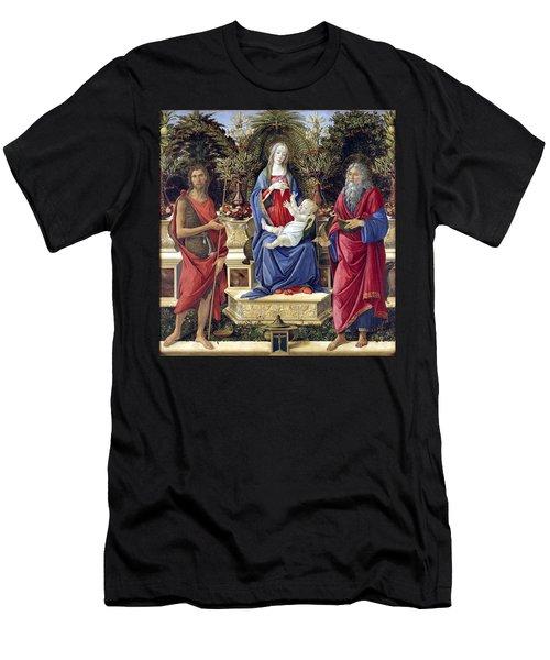 Madonna With Saints Men's T-Shirt (Athletic Fit)