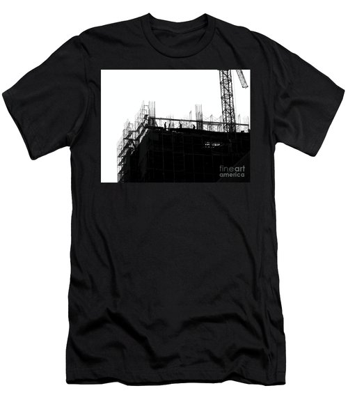 Men's T-Shirt (Athletic Fit) featuring the photograph Large Scale Construction In Outline by Yali Shi