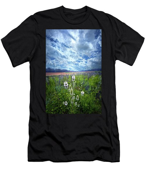 Men's T-Shirt (Athletic Fit) featuring the photograph A Chance Of Rain by Phil Koch
