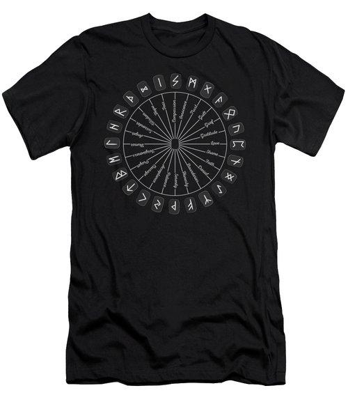 A Circle Of Healing Runes Men's T-Shirt (Athletic Fit)