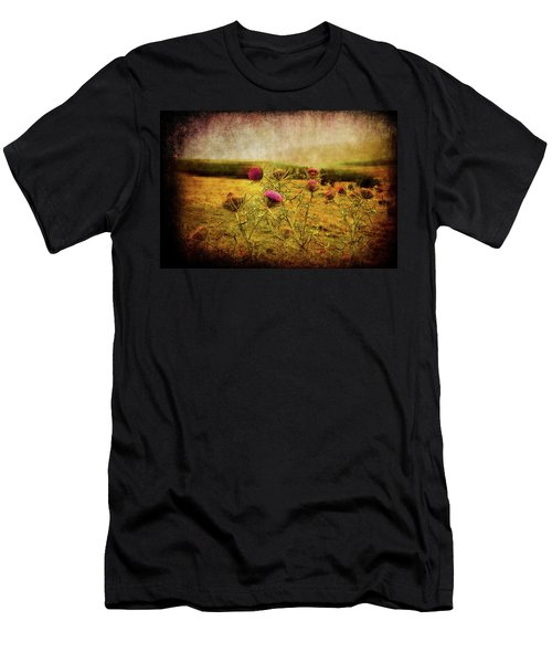 Men's T-Shirt (Athletic Fit) featuring the photograph A Field Covered With Mist by Milena Ilieva