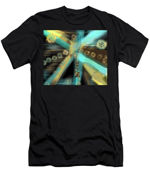 A Light Beams In Gold Brown And Blue Men's T-Shirt (Athletic Fit)