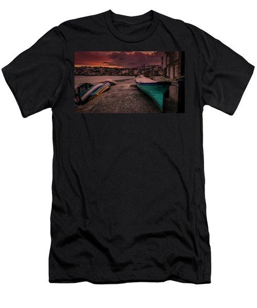 A Quiet Moment - Cornwall Men's T-Shirt (Athletic Fit)