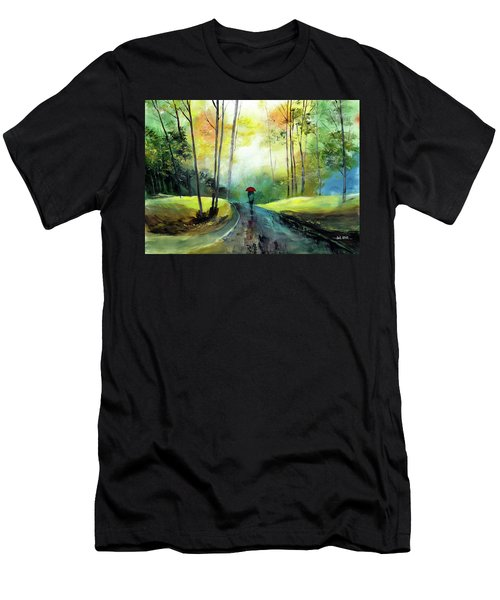 A Walk In The Rain Men's T-Shirt (Athletic Fit)