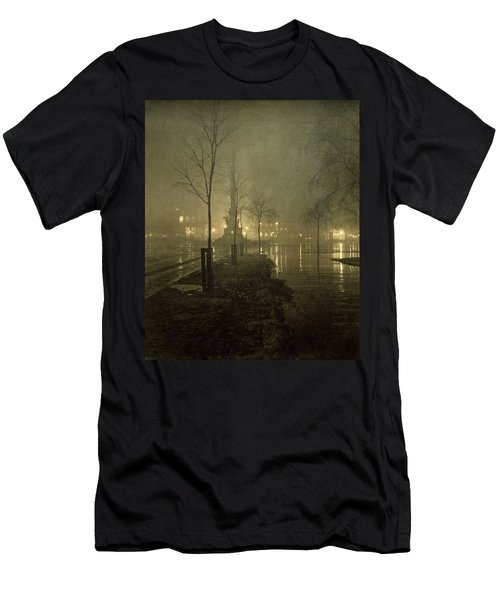 A Wet Night, Columbus Circle, 1898 Men's T-Shirt (Athletic Fit)