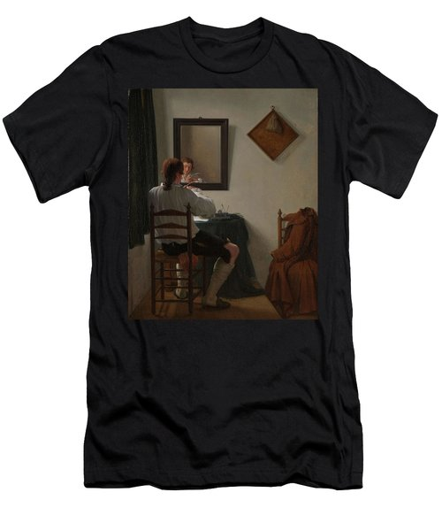 A Writer Trimming His Pen. Men's T-Shirt (Athletic Fit)