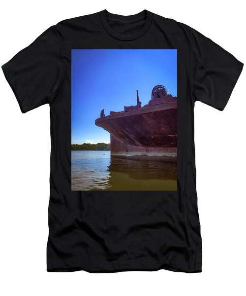 Men's T-Shirt (Athletic Fit) featuring the photograph Abandoned Ship by Lora J Wilson