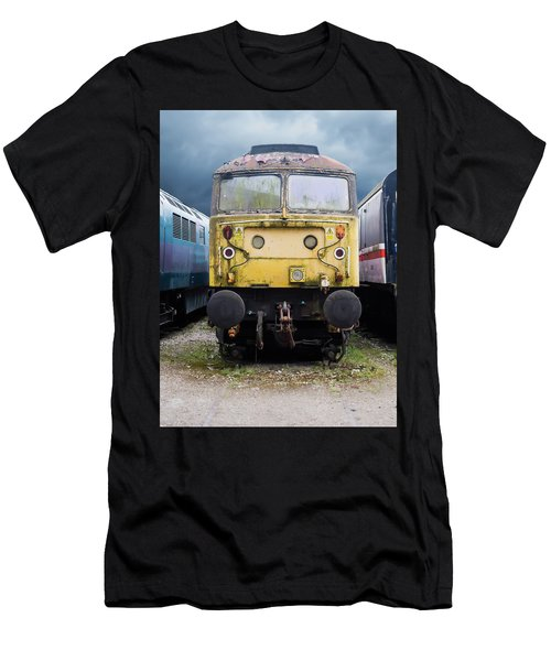 Abandoned Yellow Train Men's T-Shirt (Athletic Fit)