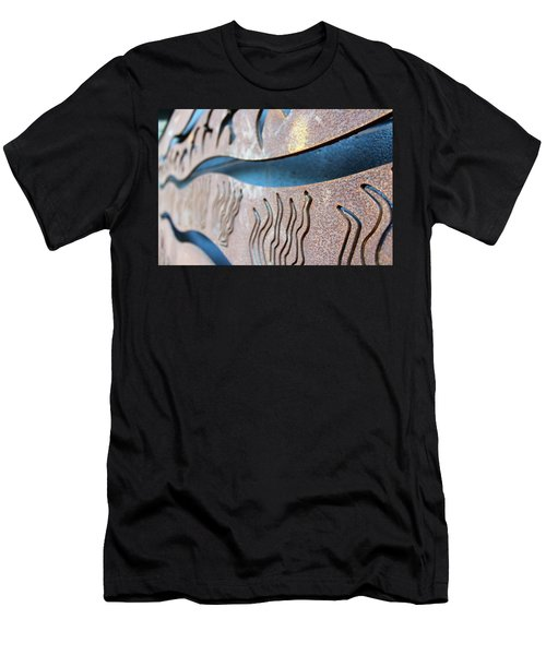 Men's T-Shirt (Athletic Fit) featuring the photograph Abstract Lake Patricia Sign 1 by Joan Stratton