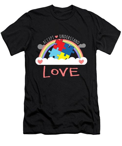 Accept Understand Love Autism Awareness 2017 Men's T-Shirt (Athletic Fit)
