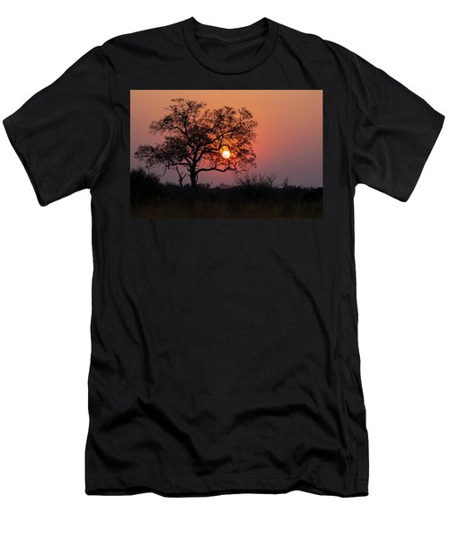 Men's T-Shirt (Athletic Fit) featuring the photograph Africa Sunset by John Rodrigues