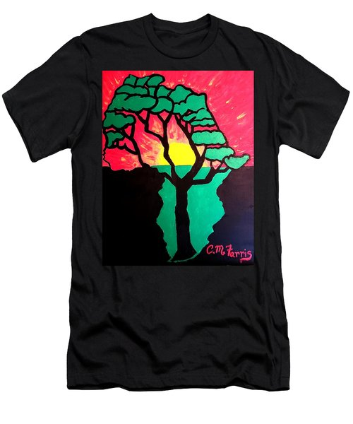 African Sunset  Men's T-Shirt (Athletic Fit)