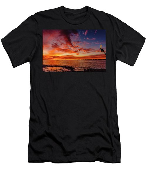 After Sunset Colors At Kailua Bay Men's T-Shirt (Athletic Fit)