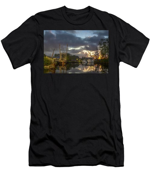 Men's T-Shirt (Athletic Fit) featuring the photograph After The Storm Sunrise by Cindy Lark Hartman