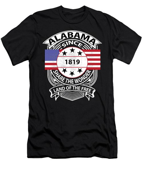 Alabama Grunge Men's T-Shirt (Athletic Fit)