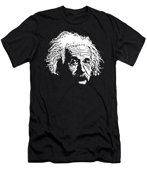 Albert Einstein Minimalistic Pop Art Men's T-Shirt (Athletic Fit)