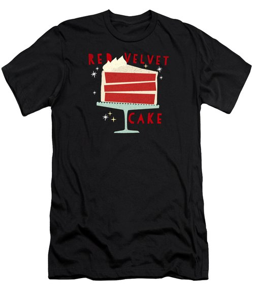 All American Classic Red Velvet Cake Men's T-Shirt (Athletic Fit)
