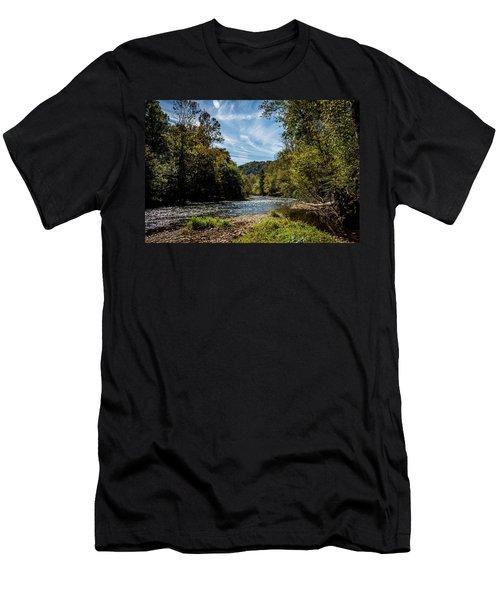 Along Oconaluftee River Trail Men's T-Shirt (Athletic Fit)