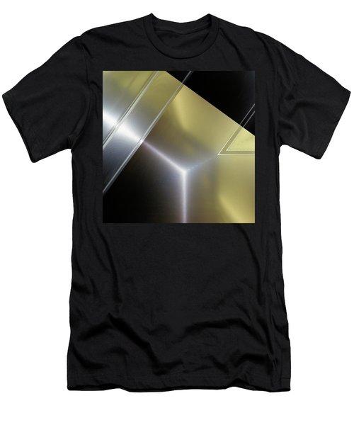 Aluminum Surface. Metallic Geometric Image.   Men's T-Shirt (Athletic Fit)